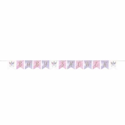 3.7m Pink 40th Birthday Paper Flag Bunting