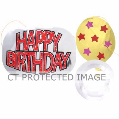 Happy Birthday Embossed 3m Foil Garland