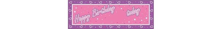 Any Age Giant Party Banner Pink