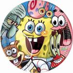  Sponge Bob 23cm Plates (pack&nbsp;quantity&nbsp;10) 