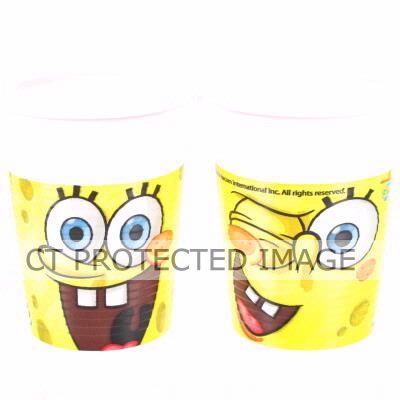  Sponge Bob Plastic Cups (pack&nbsp;quantity&nbsp;10) 