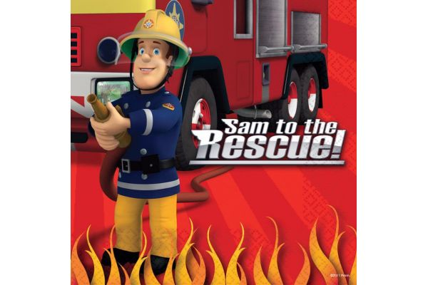  Fireman Sam 33cm Napkins (pack&nbsp;quantity&nbsp;16) 