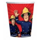 Fireman Sam Paper 266ml Cups (pack quantity 8)
