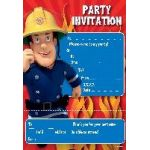  Fireman Sam Invitations (pack&nbsp;quantity&nbsp;20) 