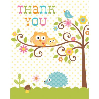  Happi Tree Thank You Cards (pack&nbsp;quantity&nbsp;8) 