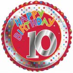 10th Birthday 18 Inch Foil Balloon