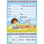  Dora Invitations (pack&nbsp;quantity&nbsp;6) 