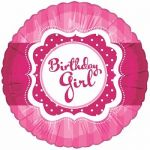 Perfectly Pink Birthday Girl 18 Inch Foil Balloon