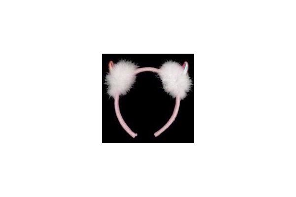 Pvc Fuschia Devil Horns