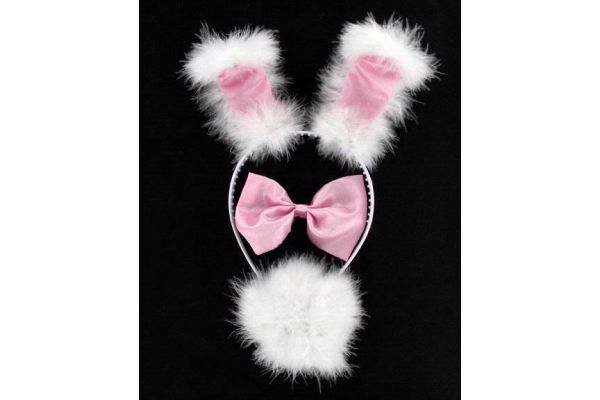 3pc Pink Bunny Ears Set