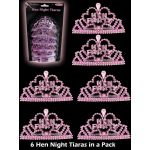  Hen Night Mini Tiaras (pack&nbsp;quantity&nbsp;6) 