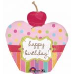 Cherry Cupcake Super Shaped Foil Balloon Balloon