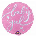 Baby Girl Script 18 Inch Foil Balloon