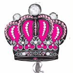 Pink Diamond Crown Super Shaped Foil Balloon Balloon