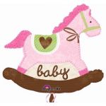 Baby Pink Horse Super Shaped Foil Balloon Balloon