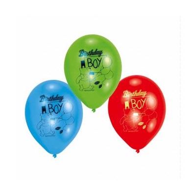  9 Inch Winnie Birthday Boy Balloons (pack&nbsp;quantity&nbsp;6) 