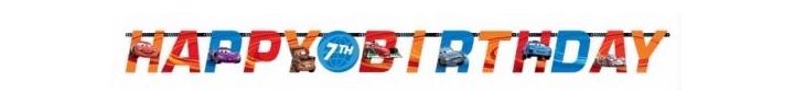 Add-an-age Disney Cars Letter Banner