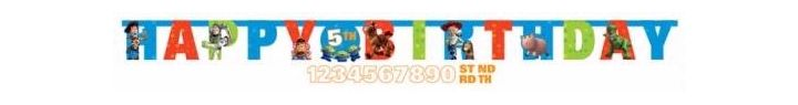  Toy Story Add Age Letter Banner (pack&nbsp;quantity&nbsp;1) 
