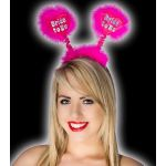 Bride To Be Hot Pink Bopper With Silver Print