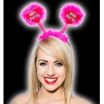 Hen Party Hot Pink Bopper With Silver Print