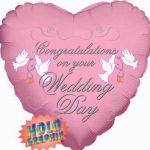 Pink Wedding Day 18 Inch Foil Balloon