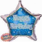 Blue Glitzy Birthday  18 Inch Foil
