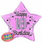 22 Inch 18th Pink Foil Balloon