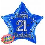 22 Inch 21st Blue Foil Balloon