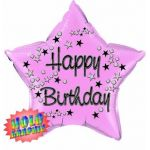 22 Inch Birthday Pink Foil Balloon