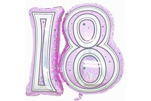 18th Pink 28 Inch Foil Balloon