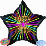 Happy Birthday Holographic 22 Inch Foil Balloon