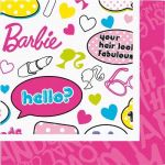 2ply Barbie 33cm Napkins (pack quantity 20)