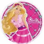 23cm Barbie Plates (pack quantity 8)