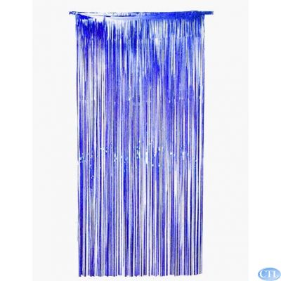 36x72 Inch Blue Foil Door Curtain