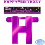 8ft Pink Giant Birthday Letter Banner