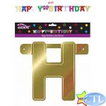 8ft Multi Giant Birthday Letter Banner