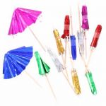  Foil Parasol Picks (pack&nbsp;quantity&nbsp;12) 