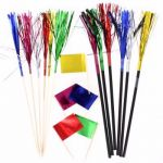 Foil Pick Straw & Flags (pack quantity 36)
