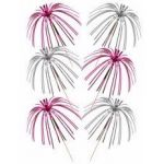 Pink & Silver Foil Tall Palm Picks (pack quantity 30)