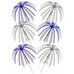 Blue & Silver Foil Tall Palm Picks (pack quantity 30)
