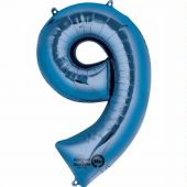 Blue 9 Jumbo Foil Balloon