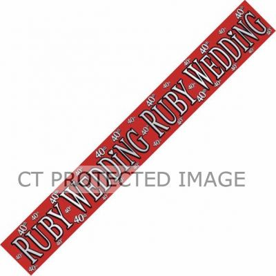 Ruby Wedding 9ft Banner