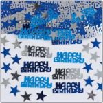 Happy Birthday Blue Mix Foil Confetti