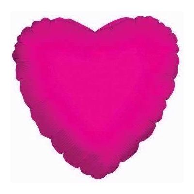 Hot Pink Heart 18 Inch Foil Balloon