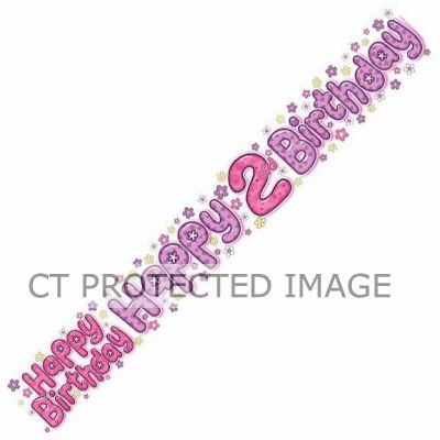 2 Today Girl 9ft Banner