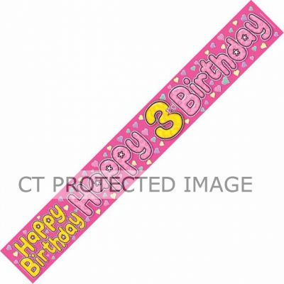 3 Today Fairy 9ft Banner