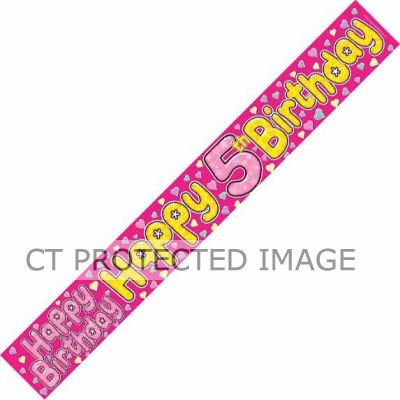 5 Today Fairy 9ft Banner