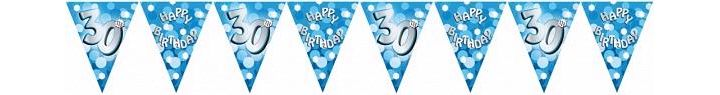 Sparkle Blue 30th Bunting
