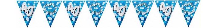 Sparkle Blue 40th Bunting
