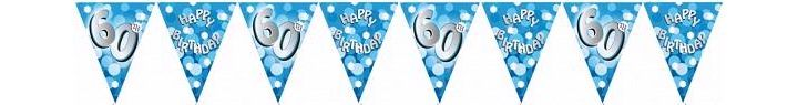 Sparkle Blue 60th Bunting